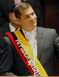 Visita de Correa a Chile