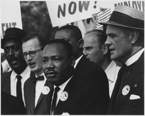Civil Rights March on Washington, D.C. [Dr. Martin Luther King, Jr. and Mathew Ahmann in a crowd.]