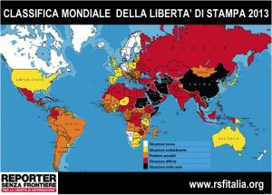 Classifica RSF della Libertà di Stampa 2013: speranze deluse dopo la primavera