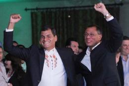 El presidente Correa obtiene su reelección con un contundente triunfo