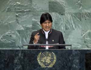Evo Morales cuestiona democracia en sistema de la ONU