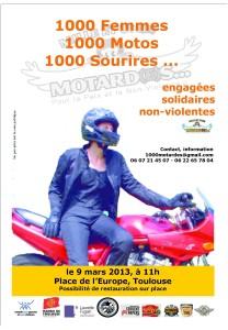 « 1000 femmes, 1000 motos, 1000 sourires…engagées, solidaires, non violentes ! »