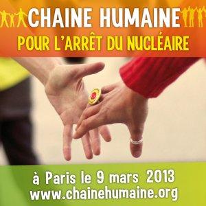 La chaîne humaine pour l'arrêt du nucléaire civil et militaire
