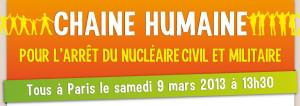 Catena umana contro il nucleare civile e militare