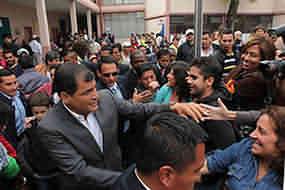 Ecuador vive el triunfo de Rafael Correa