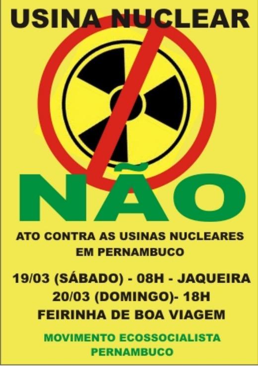 Artistas pernambucanos se mobilizam contra a instalação de usinas nucleares
