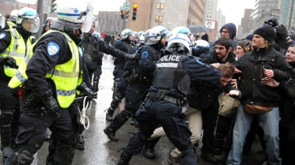 Canada detains over 240 in anti-police brutality rally