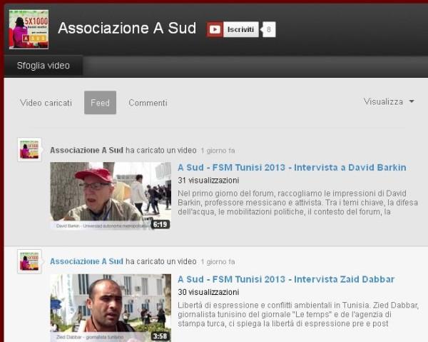Social Forum di Tunisi: le interviste di A Sud