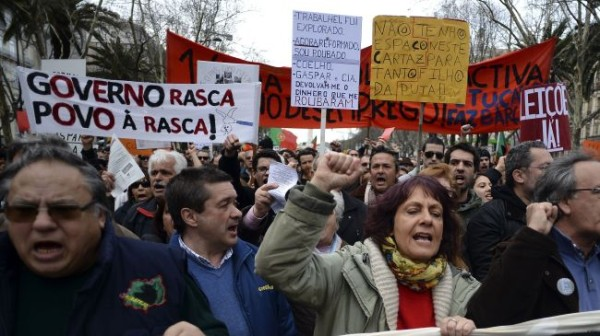 Portuguese people rally against austerity measures