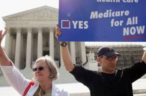 Trabajadores de sanidad protestan en EEUU contra recortes