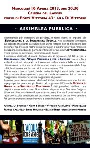 Assemblea pubblica alla Camera del Lavoro di Milano