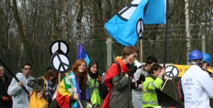 Protestors descend on the Atomic Weapons Establishment to say 'Scrap Trident'