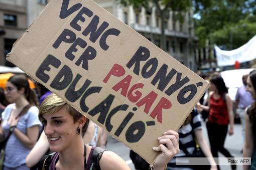 La huelga de la educación sacudió a España y ganó las calles en Barcelona