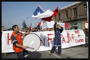 Foto-Reportaje: Santiago de Chile, Paro nacional y Marcha por las calles capitalinas