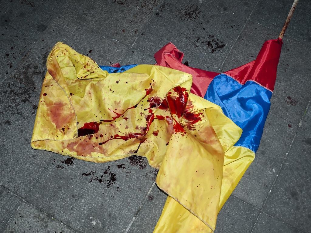 ecuador bandera ensangrentada