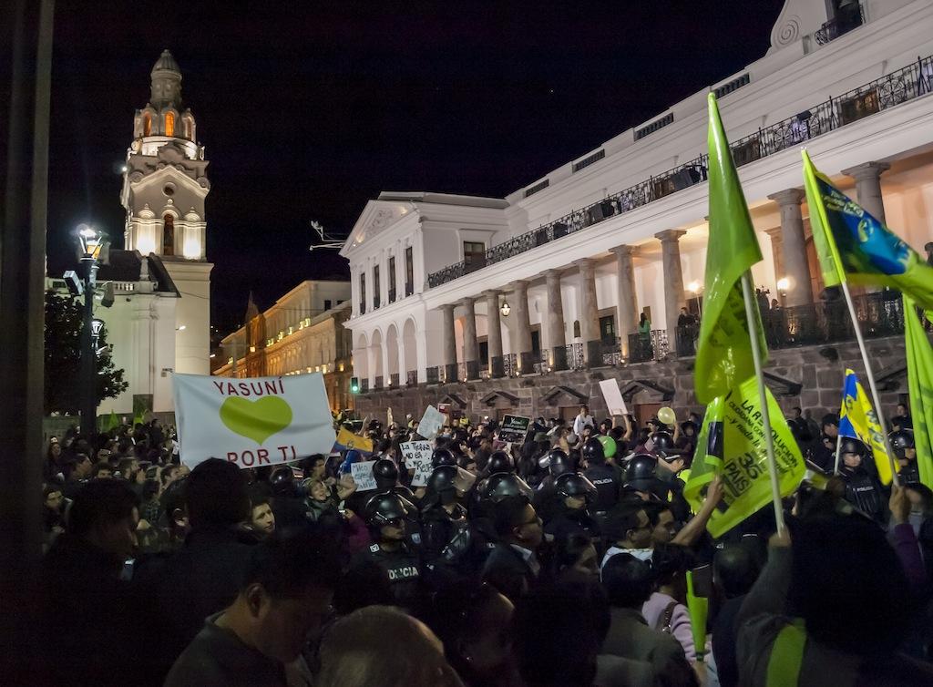 manifestación ecuador