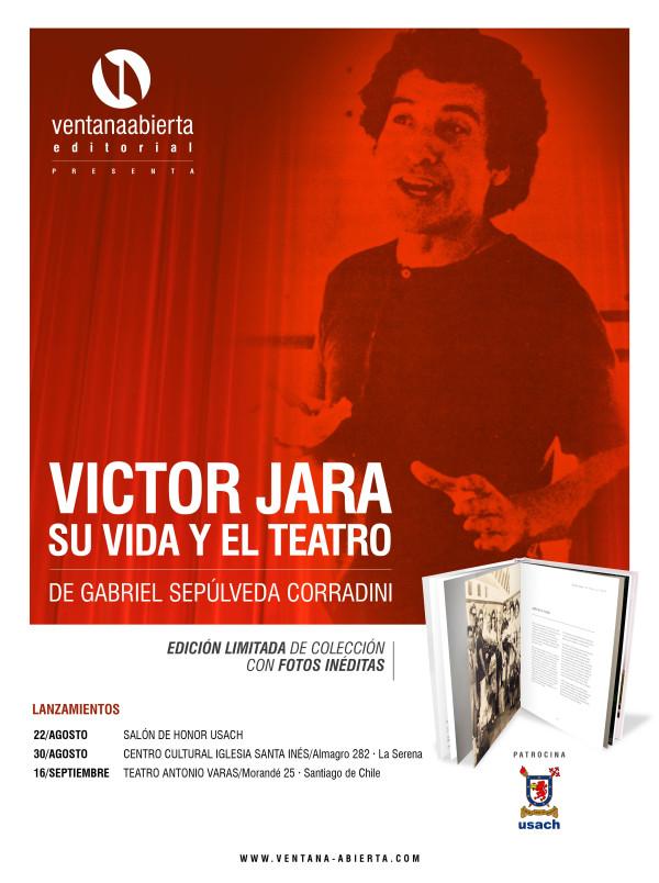 """Lanzamiento del libro """"Víctor Jara, su vida y el teatro"""" en la Universidad de Santiago"""