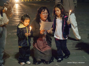 El día internacional de la No Violencia se celebró en Quito
