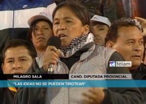 """""""Las ideas no se pueden tirotear"""", resaltó Milagro Sala"""