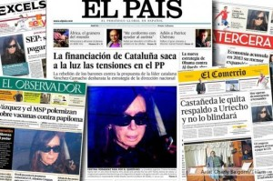 La operación de Cristina, en las tapas de los principales diarios