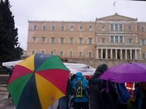 Atene, manifestazione per la radiotelevisione statale Ert