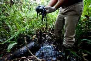 A mão suja da Chevron emerge no Equador
