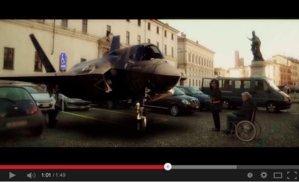 """""""Divieto di sosta"""", secondo video di Taglia le ali alle armi contro gli F-35"""