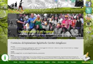 On line il sito del Cammino di Ispirazione Spirituale Grotte-Attigliano