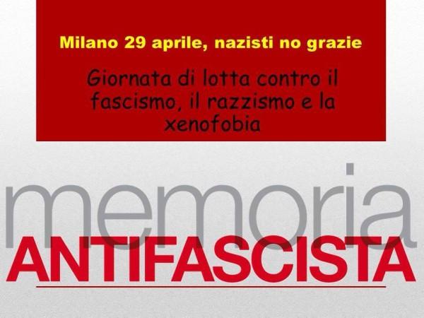 Nazisti no grazie! Il 29 aprile gli antifascisti e le antifasciste milanesi saranno in piazza