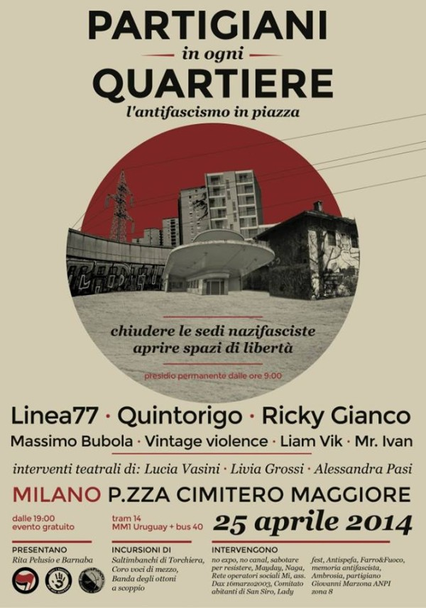 25 aprile, gli appuntamenti a Milano