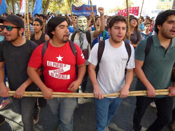Santiago de Chile, marcha por la educación