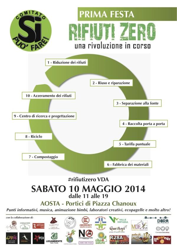 Aosta: prima festa Rifiuti Zero