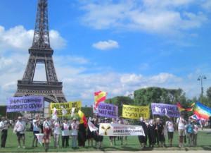 """Nucléaire : """"Jeûne-action"""" à Paris les 6/9 août 2014"""