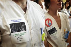 Trabajadores ocupan hospital en Barcelona