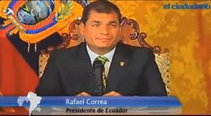 Correa Fernsehansprache