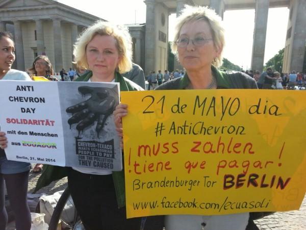 Deputada Federal Eva Bulling-Schröter e Deputada Municipal Sabine Bock