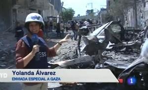 Apoyo unánime a la corresponsal de TVE en Gaza, Yolanda Álvarez