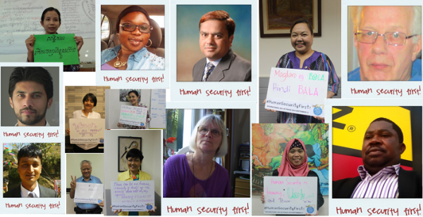 Join People from around the World to Call for Human Security First!