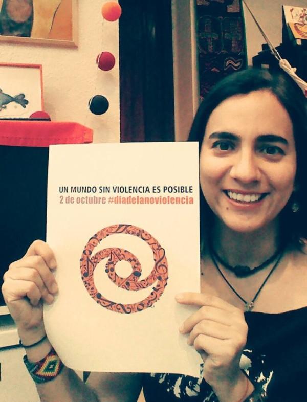 Marta Gómez adhiere al #diadelanoviolencia #nonviolenceday