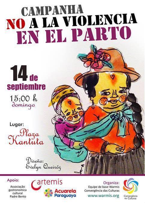 Evento convida mulheres migrantes e nativas a lutarem contra a violência obstétrica.
