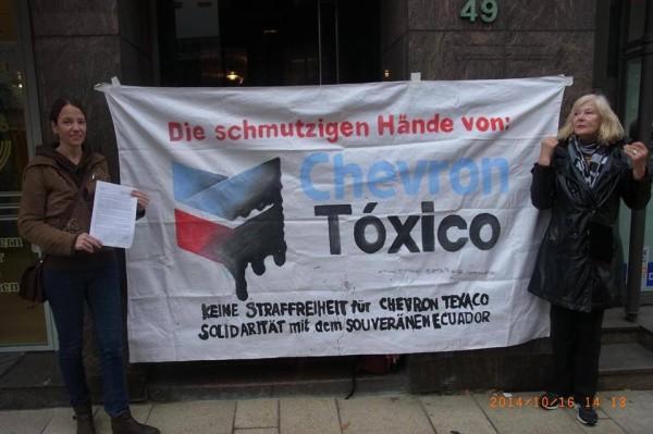 Aufruf von EcuaSoli an Chevron Deutschland die Milliardenschuld zu begleichen