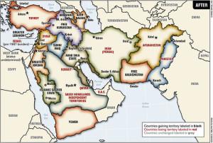 Nuevo  mapa imperial de Medio Oriente