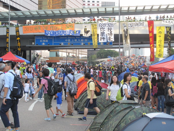 Proteste in Hong Kong – Sonntag, 12. Oktober am Admiralty-Queensway