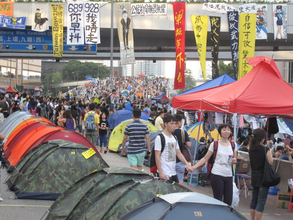 HK protesta 12 de octubre 2014