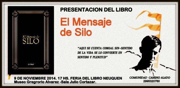"""Invitación a la comunidad neuquina a la presentación del libro """"El mensaje de Silo"""""""