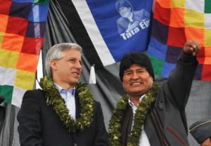 L'odeur de la Bolivie d'Evo et d'Alvaro