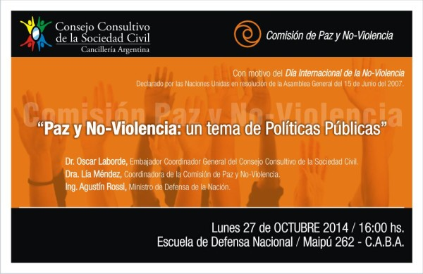 """Lía Méndez junto a Agustín Rossi en panel """"Paz y No-Violencia: un tema de Políticas Públicas"""""""
