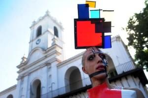 Marcha del Orgullo Gay por una nueva ley antidiscriminatoria en Buenos Aires