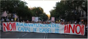 Se reaviva la lucha contra la privatización del agua del Canal de Isabel II