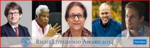 Le Prix Nobel alternatif 2014, Cérémonie et programme